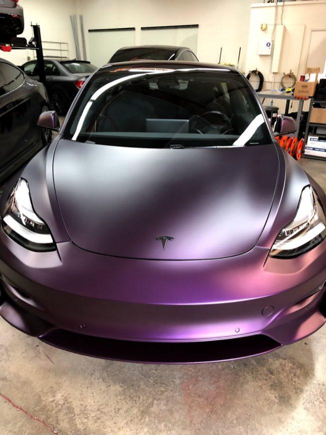 Tesla Model 3 Purple 3