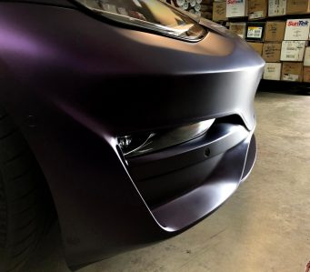 Tesla Model 3 purple bumper 3