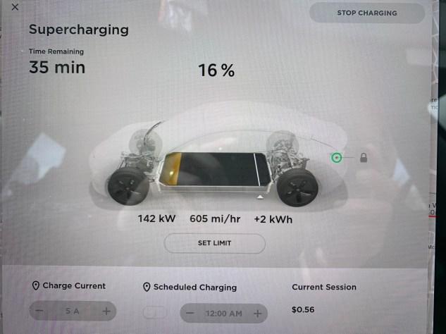 Tesla Supercharger V2 charge rate 2