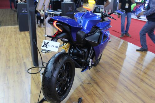 emflux one electric motorcycle
