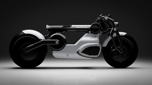 curtiss zeus cafe racer electric motorcycle