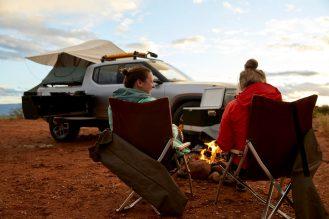 Rivian R1T electrc pickup truck camper 4