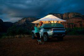 Rivian R1T electric pickup truck camper 10