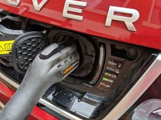 Range Rover Sport PHEV charging port