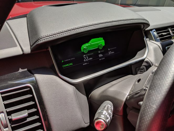 Range Rover Sport PHEV instrument cluster