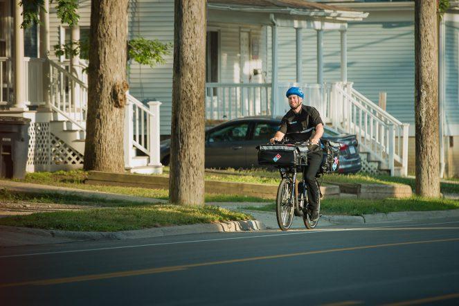 delivery e-bike domino's rad power