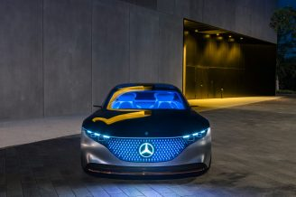 Mercedes-Benz VISION EQS, IAA 2019, der VISION EQS zeigt einen Ausblick auf ein Konzept eines vollelektrischen Fahrzeugs der Luxusklasse. // Mercedes-Benz VISION EQS, IAA 2019, the VISION EQS provides an outlook on a concept for a fully-electric vehicle in the luxury class.