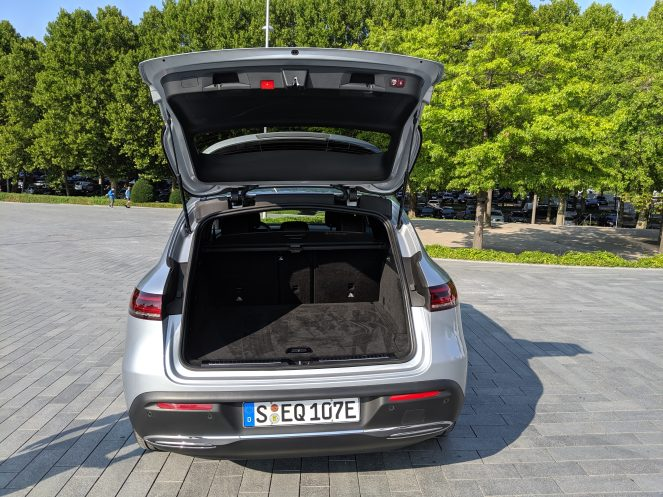 Mercedes electric EQC trunk