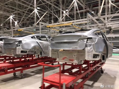 Tesla Model 3 body Gigafactory 3 leak 1