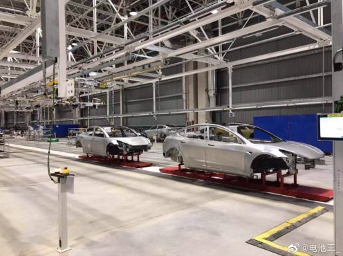 Tesla Model 3 body Gigafactory 3 leak 2