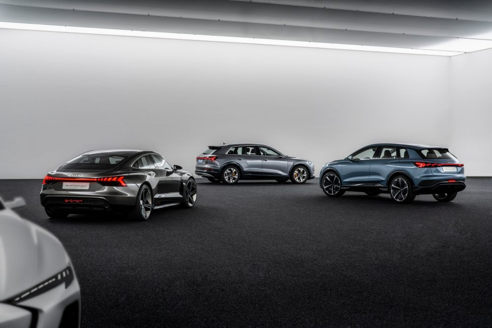 Audi electric sedan teaser 3