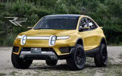 Rivian R1X-front-yellow