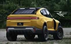 rivian R1X-rear-yellow