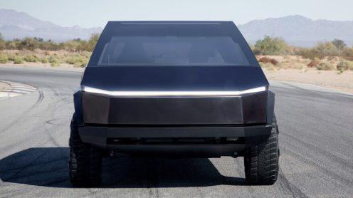 Tesla Cybertruck black front center