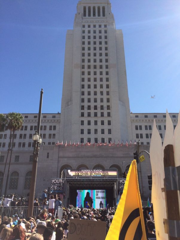 FridaysforFuture Jamie 2 los angeles city hall