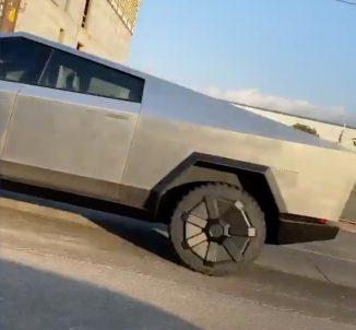Tesla Cybertruck prototype spotted 5