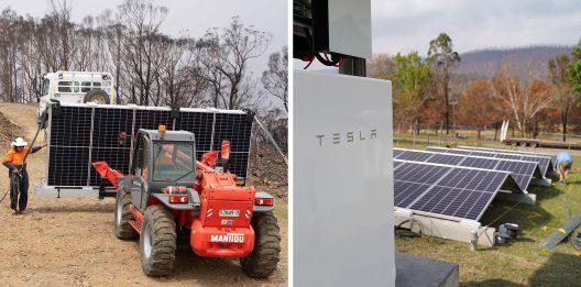 Tesla Solar australia wildfires