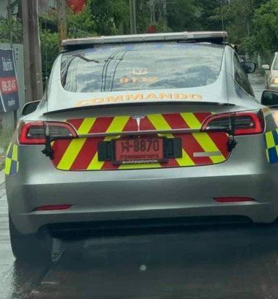 Tesla Model 3 police thai 2