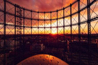 Gasometer_Sundown