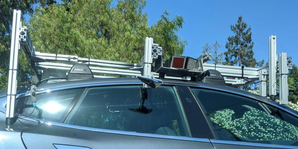 Tesla Autopilot sensor rig