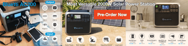 Bluetti solar 2000W Power Station