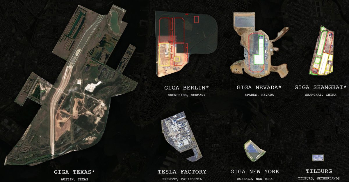 Tesla Gigafactory Texas shows its crazy potential in size comparison with other Tesla factories - Electrek