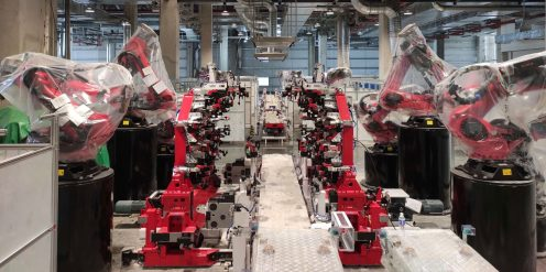Tesla Model Y production line at Gigafactory Shanghai 1