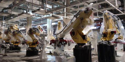 Tesla Model Y production line at Gigafactory Shanghai 2