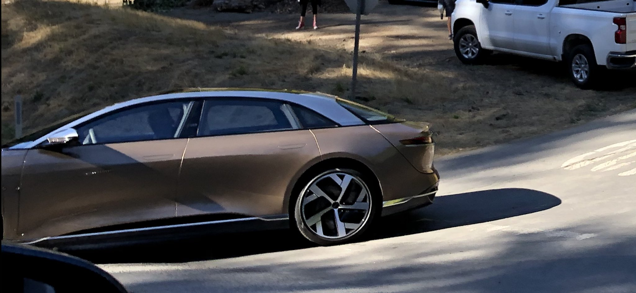 Lucid electric SUV prototype spotted ahead of launch ...