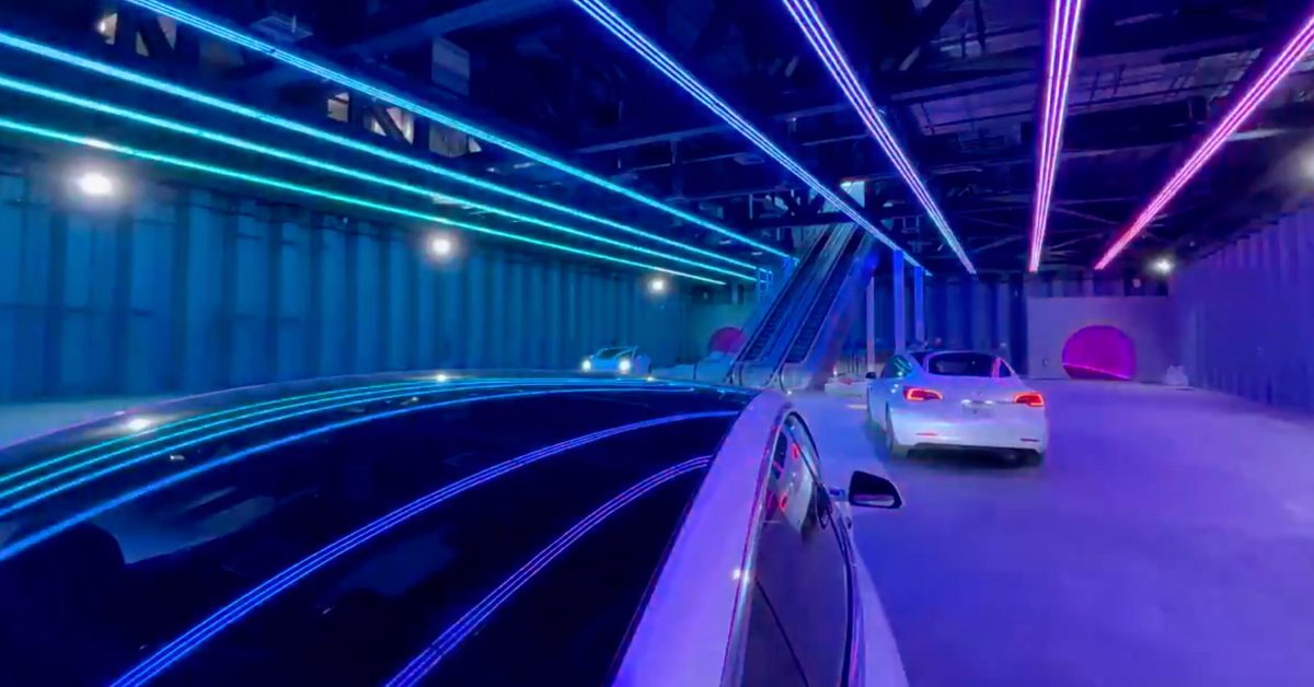 Elon Musk's Boring Company teases first passenger station of the Las Vegas Loop - Electrek