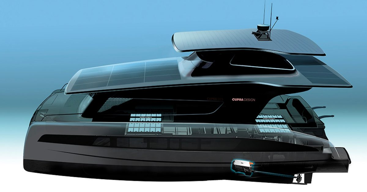 VW launches new solar-electric yacht project with MEB platform, CUPRA design, and Silent Yachts - Electrek