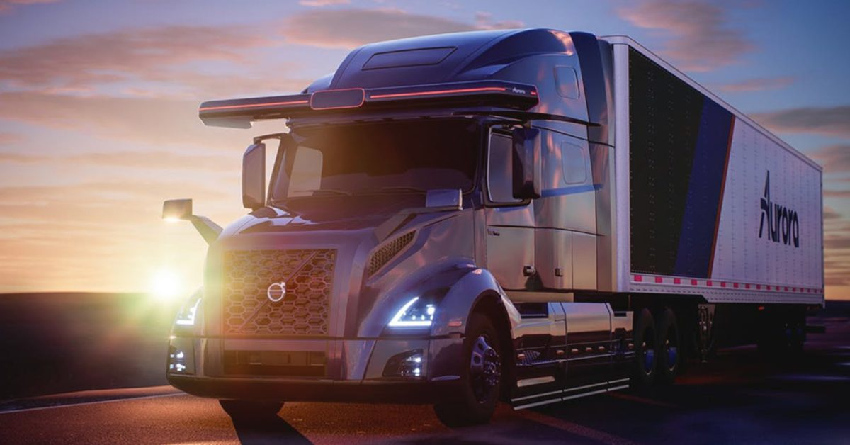Volvo partners with Aurora to develop autonomous Class 8 trucks - Electrek