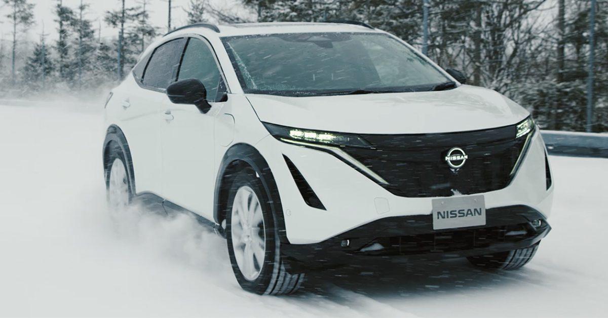 Nissan releases update of Ariya electric crossover testing ahead of production - Electrek