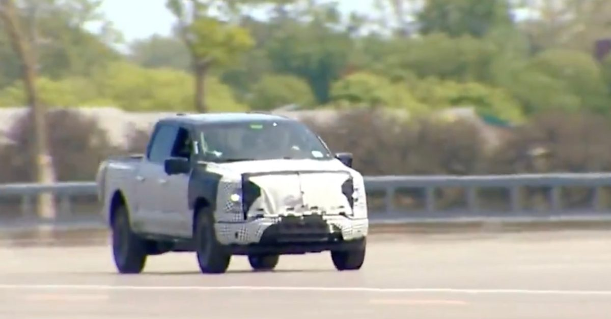 Watch Ford F150 Lightning electric pickup's rocket acceleration with President Biden behind the wheel - Electrek