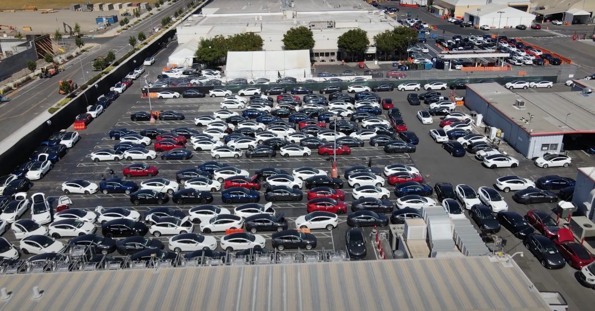 Tesla is stuck with over 10,000 cars on factory hold, resulting in a logistical nightmare - Electrek