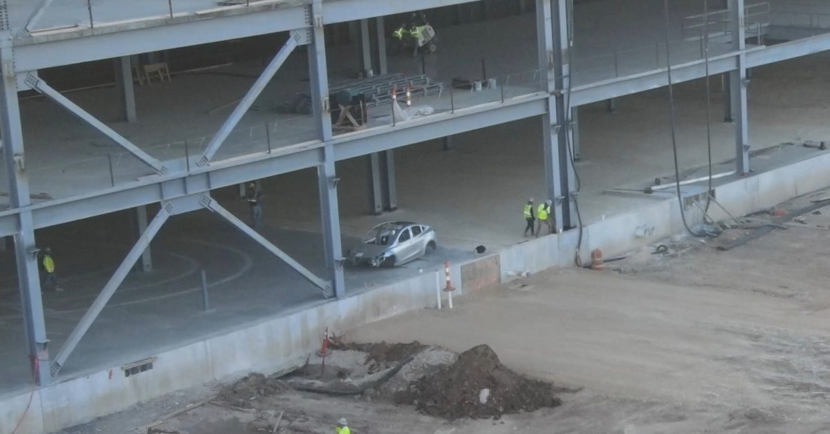 Tesla is getting closer to production at Gigafactory Texas as Model Y body is spotted on-site - Electrek