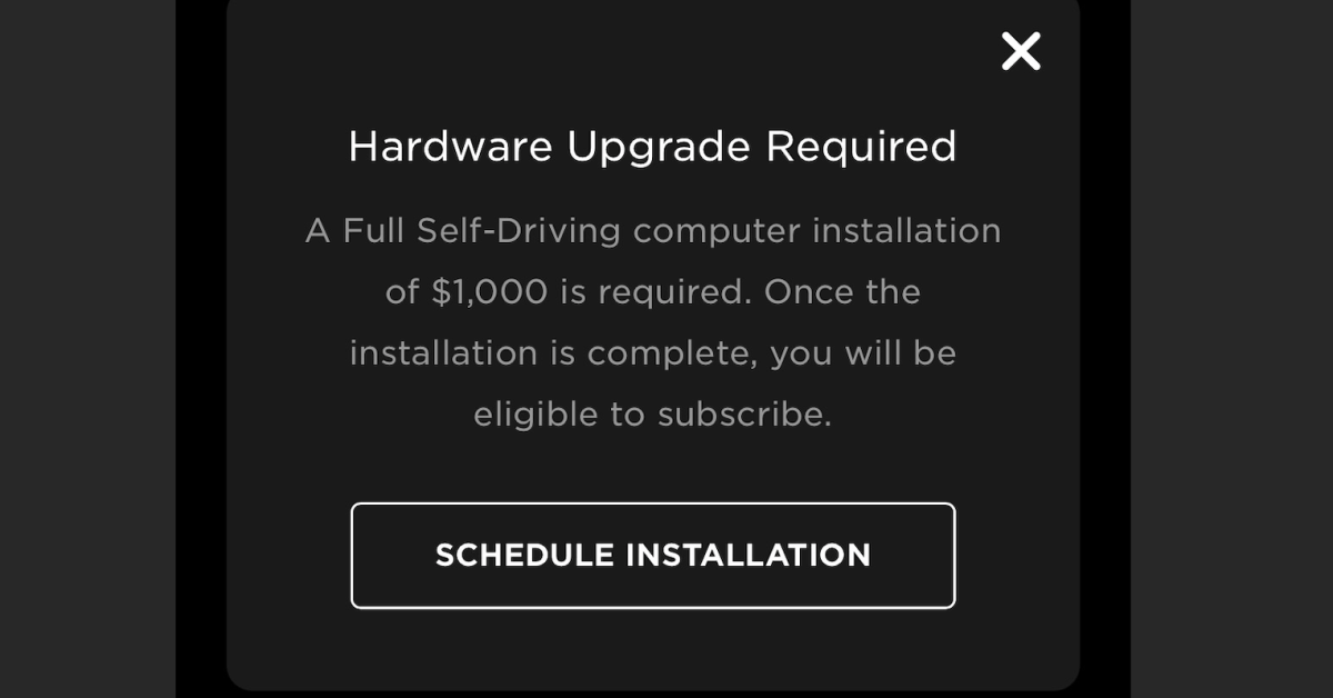 photo of Tesla reduces price of FSD computer upgrade to $1,000 (but not zero) after criticism image
