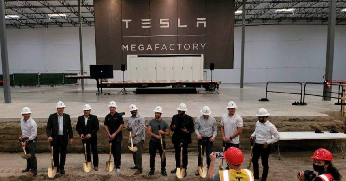 Tesla (TSLA) breaks ground on new 'Megafactory' to produce Megapack batteries