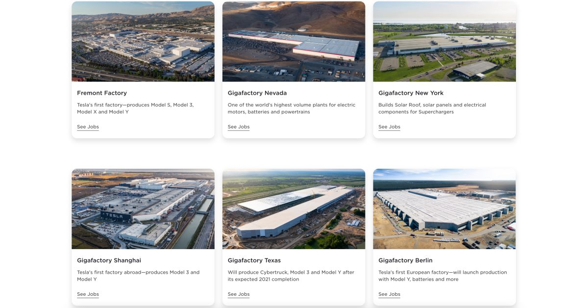 Tesla launches new website to flex its manufacturing muscle and help with humongous hiring effort