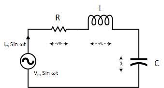 RLC Series circuit, phasor diagram with solved problem