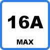 16A max - Adaptateur Type 2 vers prise domestique 16A