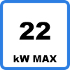 Max 22kW - KEBA P30 x-series charging station from 2,3kW to 22kW with RFID and LAN connectivity - 98107