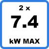 Max 2x74kW 3 - Duo-oplaadstation met kabels (2 x 7.4kW)