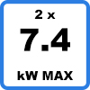 Max 2x74kW 3 - Duo-oplaadstation (2 x 7.4kW)