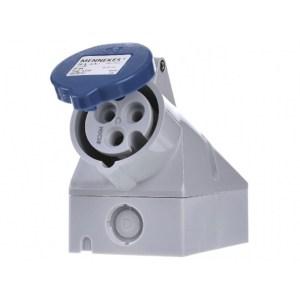 Mennekes CEE 16A 3P enkelfasige stopcontact