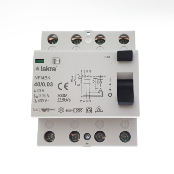 Differential circuit breaker (RCD) Type B - 40A