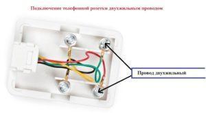 Cabo de 2 core de diagrama de conexão com contatos do soquete de telefone