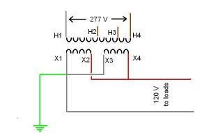 Step down transformer voltage