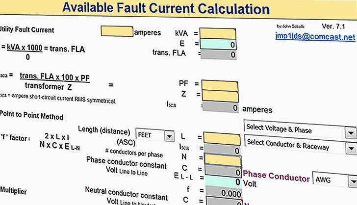 Earth Leakage Relay Wiring Diagram Fault Current Calculation Spreadsheet Eep