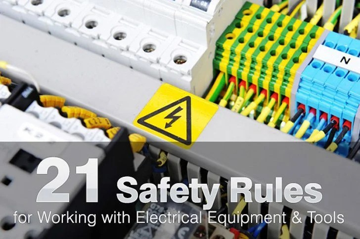 Wiring Diagram For Household Electricity 21 Safety Rules For Working With Electrical Equipment